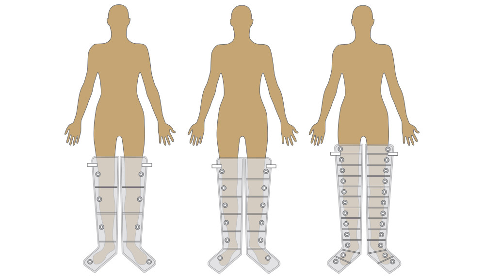 cuff sections for compression therapy unit