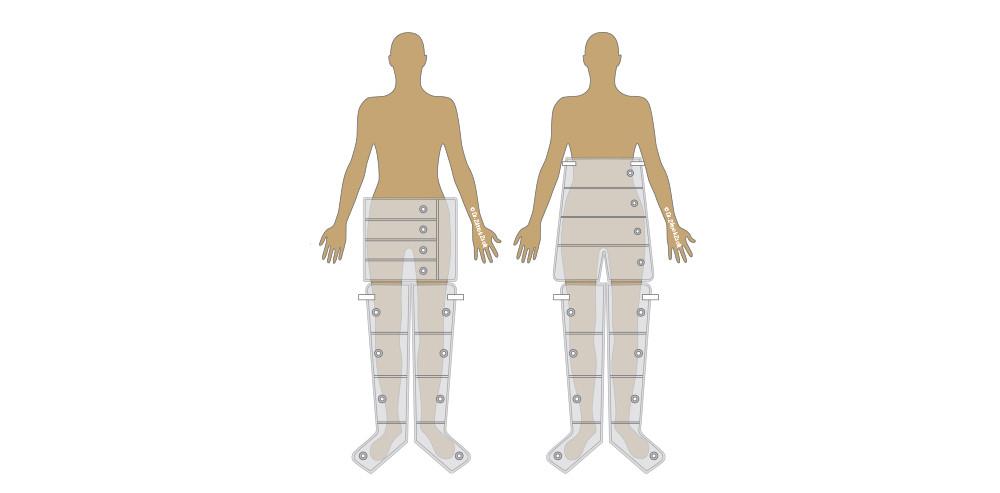 cuff combinations for compression therapy unit
